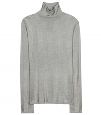 Balenciaga Silk Turtleneck Sweater Grey