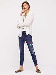 Free People Embroidered Bird Jean By