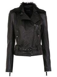 Tufi Duek Leather Jacket Black