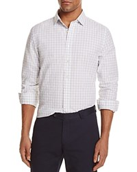 Bloomingdale's The Men's Store At Gingham Regular Fit Button Down Shirt Gray Heather