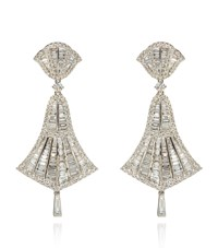Annoushka Small White Gold And Diamond Flamenco Earrings Silver