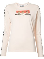 Opening Ceremony Printed Longsleeved T Shirt Women Cotton S Nude Neutrals