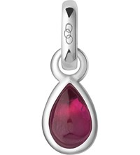 Links Of London July Sterling Silver And Ruby Mini Birthstone Charm Red