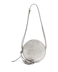 Il Bisonte Metallic Circle Crossbody Bag Silver