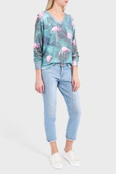 Wildfox Couture Women S Printed Jersey Jumper Boutique1 Multi