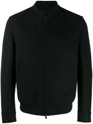 Fendi Slim Fit Bomber Jacket Black