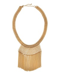 Lydell Nyc Fringe Statement Necklace Golden