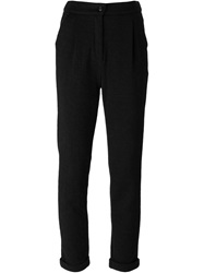 Woolrich Textured Slim Trousers Black