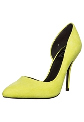 Evenandodd Classic Heels Acid Lime Yellow