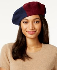 Inc International Concepts Colorblock Beret Only At Macy's Navy