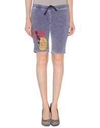 Dirtee Hollywood Fleecewear Sweat Shorts Women Dark Purple