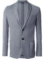 Fendi Knitted Blazer Grey