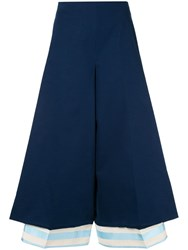 Delpozo Flared Cropped Trousers Blue