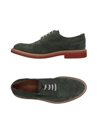Eleventy Lace Up Shoes Military Green