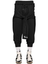 Ktz Cotton Jogging Pants W Tied Sleeves