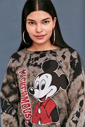 Junk Food Mickey Mouse Tie Dye Tee Washed Black