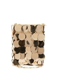 Paco Rabanne Sparkle 1969 Mini Sequinned Cross Body Bag Gold