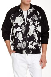 Edge By Wd.Ny Floral Print Bomber Black