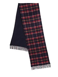 Saks Fifth Avenue Merino Wool And Cashmere Scarf Navy