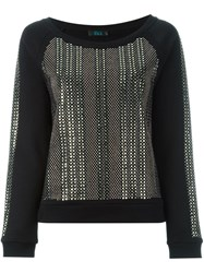 Twin Set Studded Sweatshirt Black