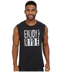 Life Is Good Enjoy The Ride Muscle Tee Night Black Men's Sleeveless