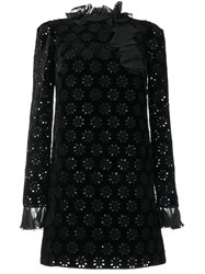 Giambattista Valli Crochet Detail Cocktail Dress Black