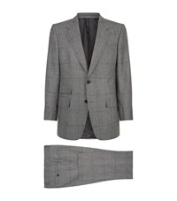Gieves And Hawkes Check Suit Grey