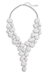 Natasha Stone Bib Necklace Ivory