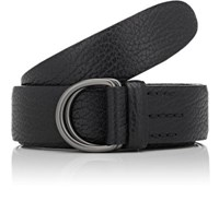 Felisi Men's Grained Leather Belt Black