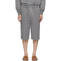 Christophe Lemaire Grey Terry Shorts