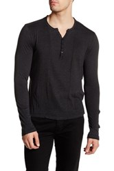 Rogue Long Sleeve Henley Tee Black
