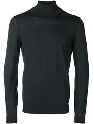 Hugo Boss Turtle Neck Fitted Sweater Black