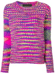 The Elder Statesman Cashmere Mesh Knit Sweater Pink