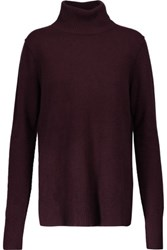 Line Serena Cashmere Turtleneck Sweater Merlot