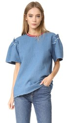 Mother Of Pearl Chelsea Top Blue