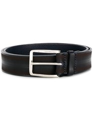 Emporio Armani Perforated Buckle Belt Blue