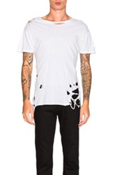 Enfants Riches Deprimes Perfect Shredded Tee In White