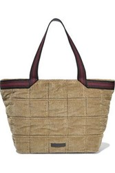 Brunello Cucinelli Woman Bead Embellished Corduroy Tote Sand
