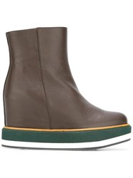 Paloma Barcelo Concealed Heel Boots Brown