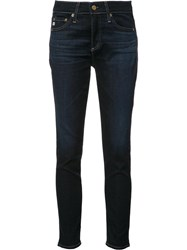 Ag Jeans Skinny Cropped Blue
