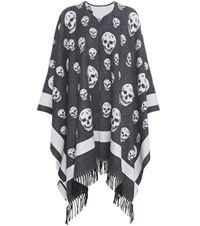 Alexander Mcqueen Wool And Cashmere Cape Black