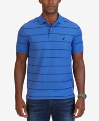 Nautica Men's Classic Fit Striped Performance Polo Frenchblue