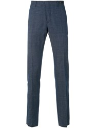 Pt01 Skinny Chambray Trousers Blue