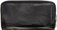 Maison Martin Margiela Black Cracked Leather Wallet