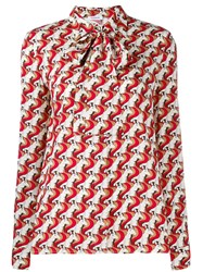 P.A.R.O.S.H. Geometric Print Blouse Red