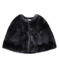 Reiss Cortland Faux Fur Stole In Charcoal