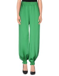 Marzia Genesi Sea Trousers Casual Trousers Women Emerald Green