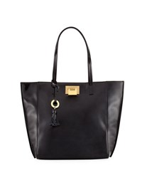 Badgley Mischka Bobbie Patent Leather Tote Bag Black
