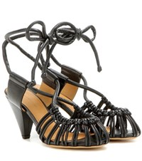 Isabel Marant Etoile Milly Leather Sandals Black