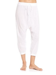 Miguelina Avery Cotton Harem Pants White